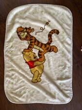 VTG Disney Luxe Plush Fleece Baby Blanket Throw Winnie The Pooh & Friends Tigger