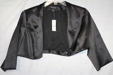 NWT WHITEHOUSE/BLACKMARKET Black PolyBlend Short Cocktail Jacket Womens Sz M-B22