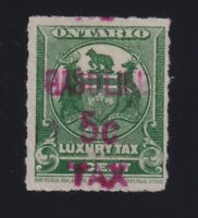 Canada VD #OGT10 (1928) 5c Red GASOLINE TAX Revenue Stamp Used