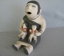 EARLY CHOCITI PUEBLO, NM POTTERY STORYTELLER Signed FELIPA (TRUJILLO)