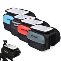 Bicycle Cycling Bike Frame Front Tube Pannier Mobile Phone Bag Holder Sports New