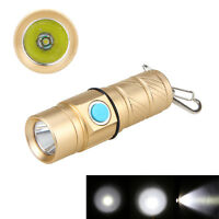 2000LM R5 LED Mini Flashlight Torch Keychain Handy Light 16340/CR123A Lamp Alloy