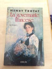 LIBRO LA GOVERNANTE FRANCESE HENRY TROYAT RIZZOLI 1990 PRIMA EDIZIONE OTTIMO
