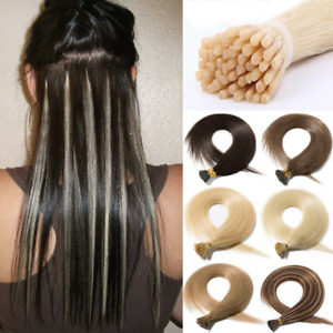 """100S Stick Tip I Tip 100% Real Remy Human Hair Extensions Micro Beads 70g 15-24"""""""