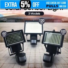 2x 60 LED Ultra Bright Solar Garden Flood Light Motion Detection Sensor