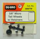 """DU-BRO 3/8"""" MICRO TAIL WHEELS WITH RETAINERS ( PACKAGE OF 2 )( CAT. # 38MTW )"""