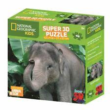 National Geographic Kids 48 piece 3D Puzzle Jigsaw Elephant 13506
