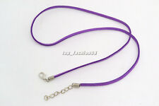 20pcs Purple Suede Leather String Necklace Cord Jewelry Making 47cm DIY FREE