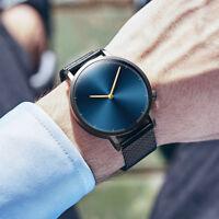 Men's Boys Classic Stainless Steel Military Quartz Analog Business Wrist Watch