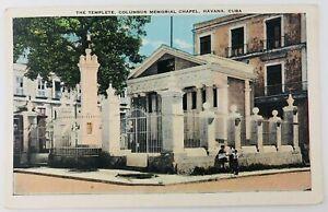 Vintage Havana Cuba The Templete Columbus Memorial Chapel Postcard