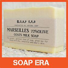 1 x MARSEILLES 72% OLIVE oil GOATS MILK SOAP- natural cold process handmade soap