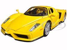 FERRARI ENZO YELLOW 1/24 DIECAST MODEL CAR BY BBURAGO 26006