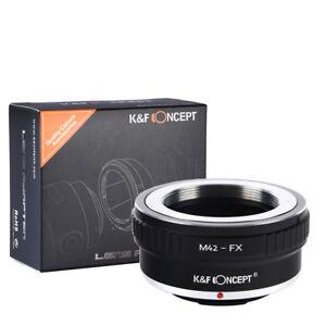 K&F Concept Adapter for M42 Screw to Fujifilm FX XPro2 X-T2 X-M2 camera