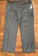 Mens Apt 9. Modern Fit Gray Straight Leg Medium Rise Dress Pants - 40 x 30 NWT