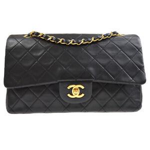 CHANEL Classic Double Flap Medium Chain Shoulder Bag 1937022 ryw Black 70258