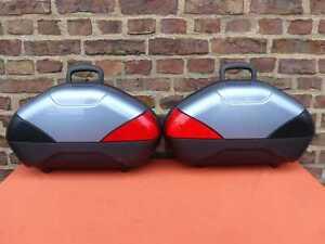 2 Original SUZUKI-Koffer V-STROM DL 1000 650 Panniers Koffersatz Seitenkoffer