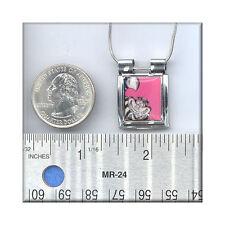 CLOSE2 YOUR ART aUrora Pendant Cheshire Cat Pink Alice In Wonderland  Necklace