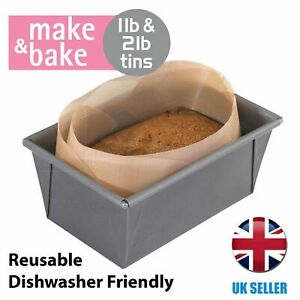 Loaf Tin Liner for 1lb And 2lb Tins Reusable Alternative To Paper Make and Bake