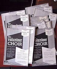 14) 1959, 1960 The Volunteer Choir issues- Hymns sheet music songs church Lorenz