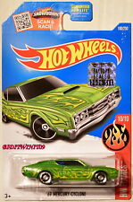 HOT WHEELS 2016 HW FLAMES '69 MERCURY CYCLONE #10/10 GREEN FACTORY SEALED