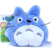 "Studio Ghibli My Neighbor Blue Totoro Mini Plush Doll Key Chain 3"" Phone Charm"