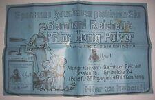 Affiche Zeitungsbeilage ? Bernhard Reichelt`S Miel Poudre À 1910 Kunsthonig