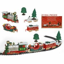 Train de Noël avec Musique et Lumière 22-teilig Chemin Fer Décoration Jouet