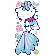 "Giant Hello Kitty 10PC RoomMates Peel & Stick Wall Decorative Murals 40""x18"" NIB"
