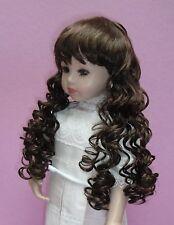 Perruque châtain 17/18cm de poupée porcelaine ancienne et moderne. Doll wig