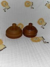 RARE Vintage Playtex Flat Top Latex Baby Bottle PULL ON Nipples