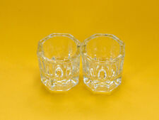 2 Glass Crystal Cups for Acrylic Liquid/Powder Mixing for Nail Art & Design USA