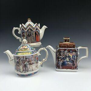 Lot 3 SADLER English Porcelain Teapots Queen Elizabeth I Armada Oliver Twist WSC