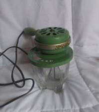 Vintage Electric cake Mixer green with glass mixer 2 pound mixer great collectib