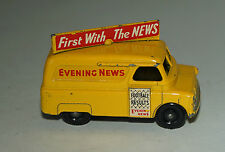Matchbox Lesney No 42 Yellow Bedford Evening News Van - BPW (45) - Excellent
