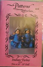 """Connie Lee Finchum pattern P352 Indian Twins ~ Fits a 18"""" - 19"""" Doll uncut"""