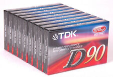 Lot of 9 TDK IECI/Type I D90 Dynamic-New Sealed Blank Cassette Tape-High Output