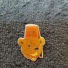 Masonic Shriners Aahmes Temple Winking Bear in Fez lapel Pin Livermore