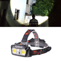 T6+2*COB LED 18650 Headlamp Headlight Flashlight ZOOM Head Light Lamp Torch E
