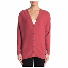 NEW T Tahari Ottoman Ribbed Knit Button Front Cardigan Sweater XL