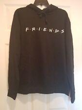 New FRIENDS TV Series Embroidered Adult Medium Lightweight Black Sweatshirt