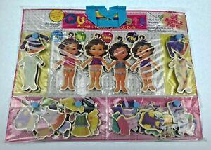 64 Magnetic Wooden Dress Up Set Dolls Quadruplets Itsy Bitsy Teeny Tiny Play