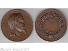 Médaille de Barre Napoléon III, Concours Agricole de Troyes 1867 SPL/EF -med22