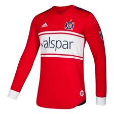 Chicago Fire MLS Adidas Men's Red Authentic On-Field Long Sleeve Jersey