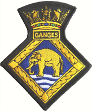 HMS Ganges Royal Navy RN Crest Mod Embroidered Patch