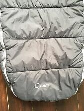 Quinny Buzz Footmuff Cosytoes In Black Well Used Condition Quilted