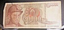 Yugoslavia banknote-20000 dinara-1987