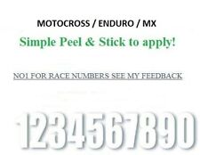 RACE NUMBERS X9 WHITE 4 INCH NUMBERS mx motocross enduro numbers.