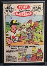 "Nestle Quik Steve Garvey Vintage Ad 2"" X 3"" Fridge Magnet. San Diego Padres MLB"