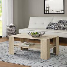 [en.casa]® Mesa de centro roble blanqueado 100x60cm mesa auxiliar madera