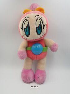 "Bomberman B0507 Pink Hudson NO TUSHTAG Plush 9.5"" Stuffed Toy Doll Japan"